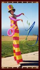 Letitia Bartlett, stiltwalker