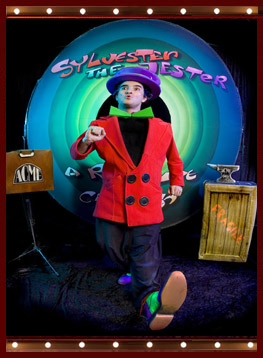 Sylvester the Jester, a real live cartoon walking